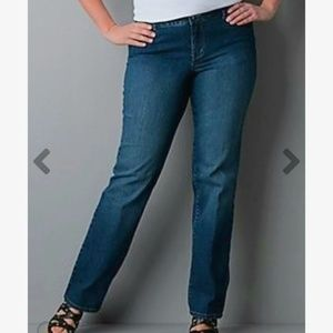 💖 NWT Lane Bryant Simply Straight Jeans 14 Tall